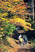 Nakano Momijiyama in Kuroishi northern Japan. One of the many paths that are on the mountain. So wonderful in the fall.
