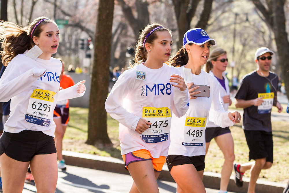 Boston Marathon: BAA 5K road race, runners for Team Martin Richard