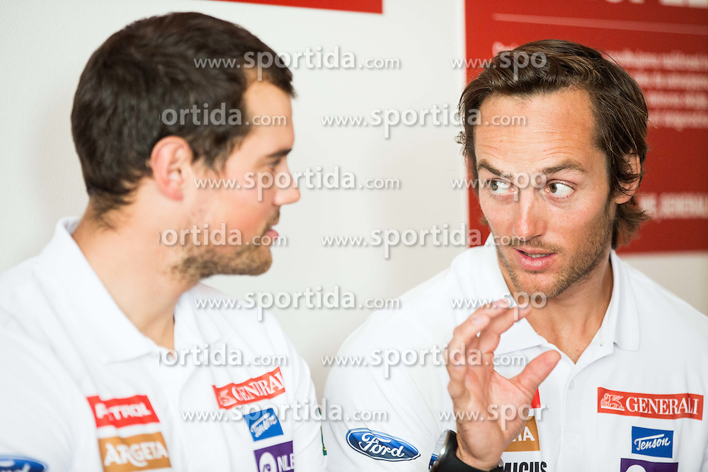 Bostjan Kline and Rok Perko during press conference of Slovenian Men Alpine Ski Team before new season 2016/17, on September 27, 2016 in Generali, Ljubljana, Slovenia. Photo by Vid Ponikvar / Sportida