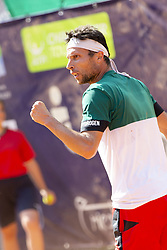 June 17, 2018 - L'Aquila, Italy - Walter Trusendi during match between Walter Trusendi (ITA) and Agustin Velotti (ARG) during day 2 at the Internazionali di Tennis Città dell'Aquila (ATP Challenger L'Aquila) in L'Aquila, Italy, on June 17, 2018. (Credit Image: © Manuel Romano/NurPhoto via ZUMA Press)
