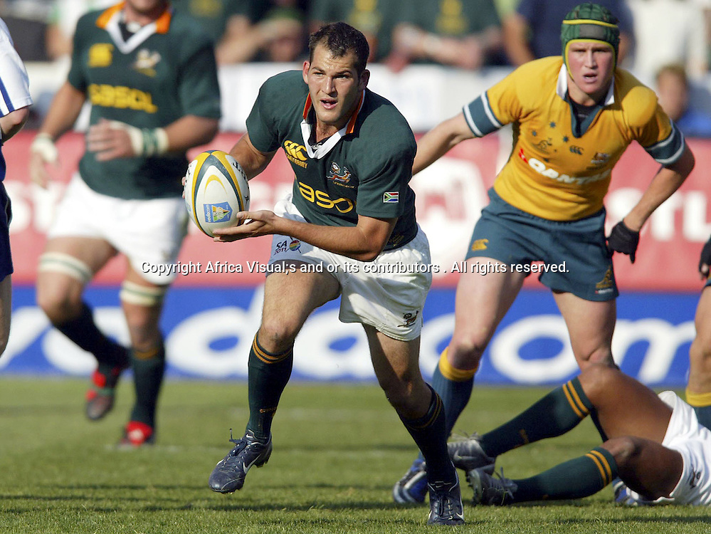 30/07/2005 Tri-Nations South Africa Vs Australia at Loftus Pretoria - South Africa Won 22-16 - Fourie du Preez