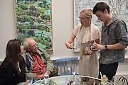 DAVID BAILEY; CLARA PAGET; FENTON BAILEY, Royal Academy Summer Exhibition party. Burlington House. Piccadilly. London. 6 June 2018