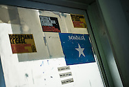 A Somalia stiker outside on of the room doors