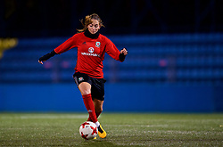 SAINT PETERSBURG, RUSSIA - Sunday, October 22, 2017: Wales' Kayleigh Green during a training session at the Petrovsky Minor Sport Arena ahead of the FIFA Women's World Cup 2019 Qualifying Group 1 match between Russia and Wales. (Pic by David Rawcliffe/Propaganda)