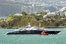 Wellington-Super Yacht Serene sails into Wellington