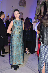 GIZZI ERSKINE at a private view of Alexander McQueen's Savage Beauty exhibition hosted by Samsung BlueHouse at the V&A, London on 30th March 2015.