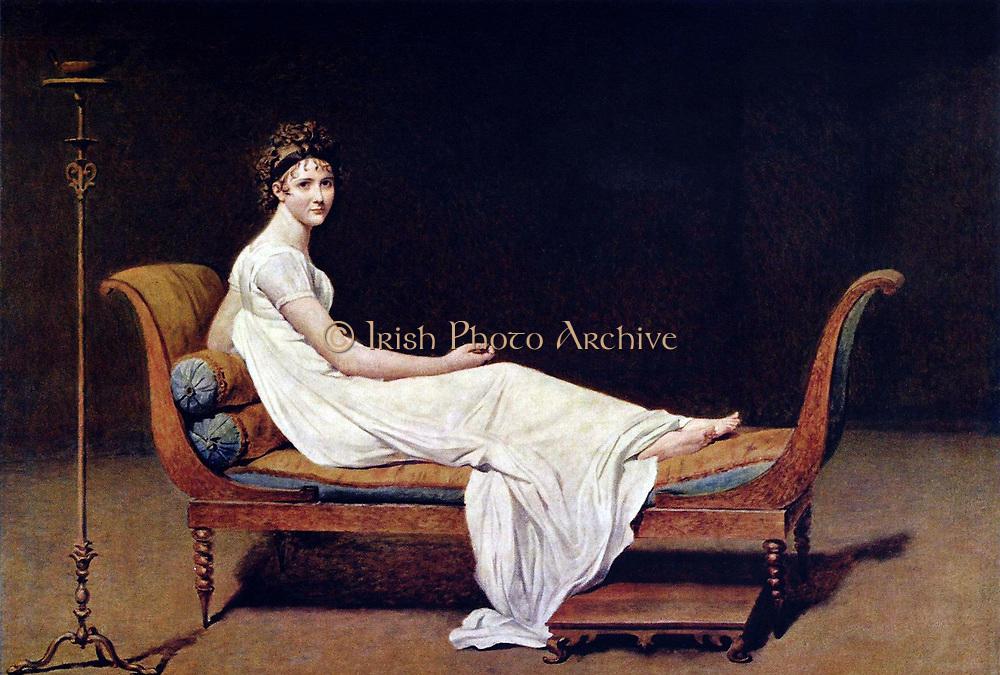 Jacques-Louis David. Portrait of Madame Recamier 1800