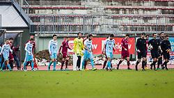 Players during football match between NK Triglav Kranj and ND Gorica in Round #24 of Prva Liga Telekom Slovenije 2017/18, on March 18, 2018 in Sportni park Kranj, Kranj, Slovenia. Photo by Ziga Zupan / Sportida