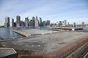 Down town Manhattan seen from promenade Brooklyn Hights
