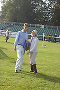 William Fox-Pitt and Lucinda Green. The Land Rover Burghley Horse Trials. 4 September. ONE TIME USE ONLY - DO NOT ARCHIVE  © Copyright Photograph by Dafydd Jones 66 Stockwell Park Rd. London SW9 0DA Tel 020 7733 0108 www.dafjones.com