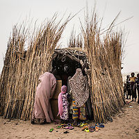 Lake region, Chad. <br /> <br /> The community school created with the contributions of the villagers. 110 students Split in three differents level are registered in the school. <br /> <br /> Sylvain Cherkaoui/Cosmos for MSF