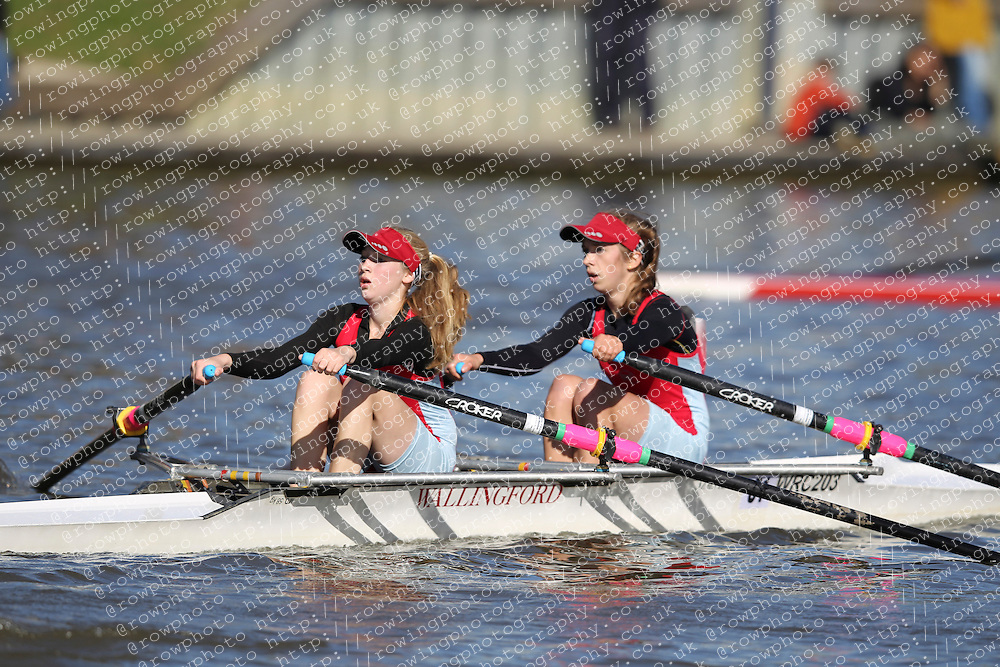29.09.2012. Wallingford Long Distance Sculls 2012, The River Thames. Division 1. W.J15A 2x. Wallingford Rowing Club.