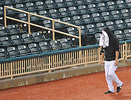 The Lake Erie Crushers game against Frontier League opponent Oakland County was suspended due to rain and bad weather in the fifth inning at All Pro Freight Stadium in Avon, Ohio, on July 22, 2010..The game was to continue on July 23rd...Photo by David Richard / www.davidrichardphoto.com