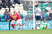 Charlton Athletic midfielder André Green (18) celebrates his goal during the EFL Sky Bet Championship match between Preston North End and Charlton Athletic at Deepdale, Preston, England on 18 January 2020.