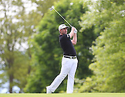 Oliver FARR on the 1st hole during the 4th day of the BMW PGA Championship at Wentworth, Virginia Water, United Kingdom on 24 May 2015. Photo by Ellie  Hoad.