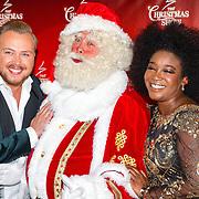 NLD/Amsterdam/20161012 - RTL presenteert cast The Christmas Show, Leona Philippo, kerstman Bert Simhoffer en Jamai Loman