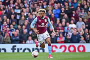 Aston Villa defender Jordan Amavi (23) during the EFL Sky Bet Championship match between Fulham and Aston Villa at Craven Cottage, London, England on 17 April 2017. Photo by Jon Bromley.