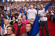 Présidentielle 2012 : Nicolas Sarkozy en meeting à Villepinte le dimanche 11 mars 2012.