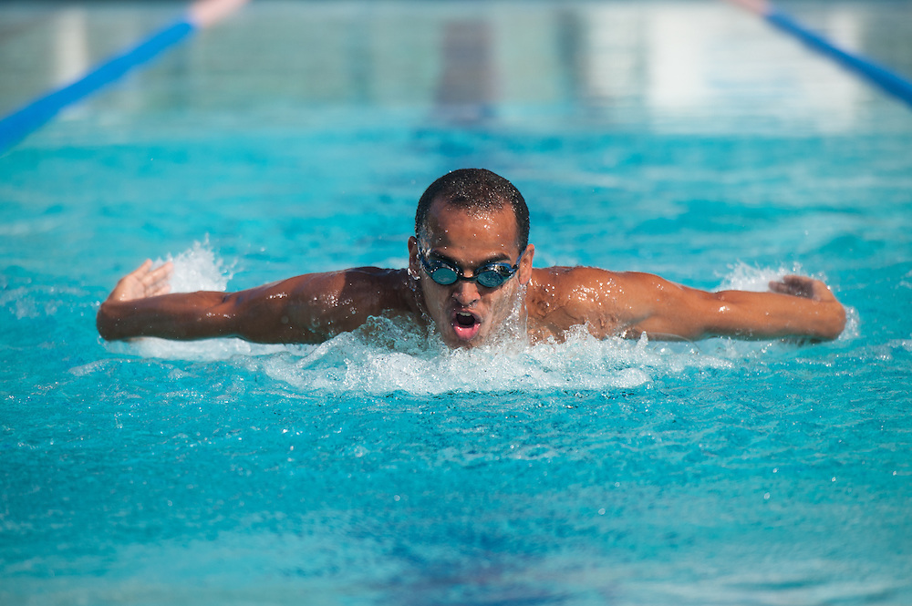 "Andrew Smiley, Cayman Islands Special Olympics gold medalist, shot for Digicel's ""Be Extraordinary"" advertising campaign"