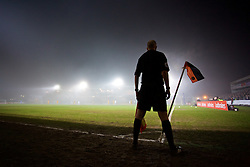 NEWPORT, WALES - Wednesday, December 21, 2016: Mist descends as Newport County take on Plymouth Argyle during the FA Cup 2nd Round Replay match at Rodney Parade. (Pic by David Rawcliffe/Propaganda)