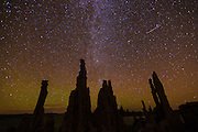The Milky Way over tufa towers at Mono Lake, Mono Basin National Scenic Area, California USA