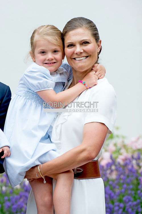 14-7-2016 BORGHOLM SWEDEN Solliden - King Carl-Gustav , queen Silvia , crown princess victoria , prince Daniel and  prince Oscar princess Estelle at the 39 the birthday celebration of crown princess Victoria victoriaday at Solliden palace. COPYRIGHT ROBIN UTRECHT  -