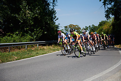 Roxane Knetemann (NED) and Emma Norsgaard Jorgensen (DEN) on the front at Giro Rosa 2018 - Stage 3, a 132 km road race starting and finishing in Corbetta, Italy on July 8, 2018. Photo by Sean Robinson/velofocus.com