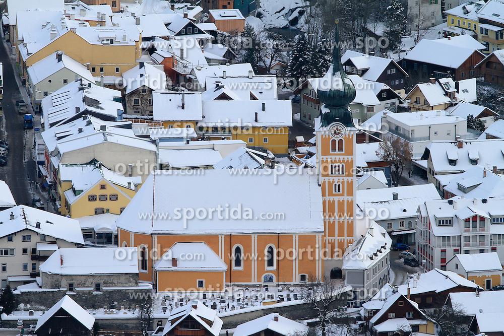 12.12.2012, Schladming, AUT, FIS Weltmeisterschaften Ski Alpin, Schladming 2013, Vorberichte, im Bild die katholische Kirche Schladming am 12.12.2012 // the catholic church Schladming on 2012/12/12, preview to the FIS Alpine World Ski Championships 2013 at Schladming, Austria on 2012/12/12. EXPA Pictures © 2012, PhotoCredit: EXPA/ Martin Huber