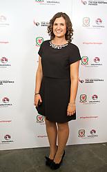 CARDIFF, WALES - Monday, October 6, 2014: Mace Sport's Hannah Lupton at the FAW Footballer of the Year Awards 2014 held at the St. David's Hotel. (Pic by David Rawcliffe/Propaganda)