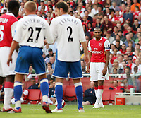 Photo: Chris Ratcliffe.<br />Arsenal v Middlesbrough. The Barclays Premiership. 09/09/2006.<br />Thierry Henry of Arsenal lines up a free kick.