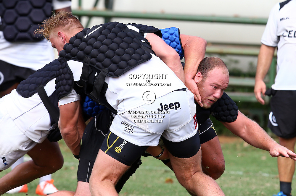 DURBAN, SOUTH AFRICA, January 18,2016 - Kyle Cooper during The Cell C Sharks Pre Season training for the 2016 Super Rugby Season at Growthpoint Kings Park in Durban, South Africa. (Photo by Steve Haag)<br /> images for social media must have consent from Steve Haag