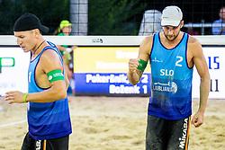 Danijel Pokersnik during FIVB  Beach Volleyball World Tour Ljubljana 2018, on August 5, 2018 in Kongresni trg, Ljubljana, Slovenia. Photo by Ziga Zupan / Sportida