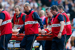 Japan Winger Akihito Yamada is stretchered off the pitch after an injury - Mandatory byline: Rogan Thomson/JMP - 07966 386802 - 03/10/2015 - RUGBY UNION - Stadium:mk - Milton Keynes, England - Samoa v Japan - Rugby World Cup 2015 Pool B.