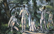 Study of Bathers' c1890. Oil on canvas: Paul Cezanne (1839-1906) French Post-Impressionist  painter.
