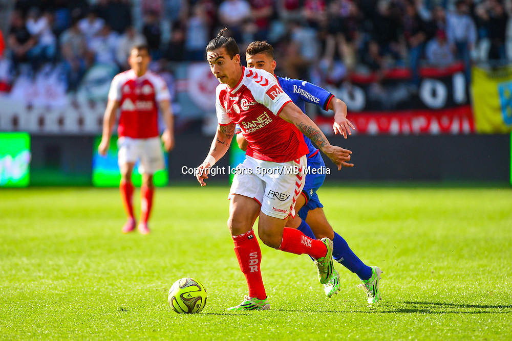Rodrigues DIEGO RIGONATO - 12.04.2015 - Reims / Nice - 32eme journee de Ligue 1 <br />