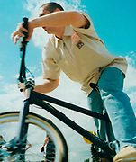 Teenager on his BMX