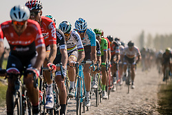 Front of the peloton with SAGAN Peter during the 115th Paris-Roubaix (1.UWT) from Compiègne to Roubaix (257 km) at cobblestones sector 17 from Hornaing to Wandignies, France, 9 April 2017. Photo by Pim Nijland / PelotonPhotos.com | All photos usage must carry mandatory copyright credit (Peloton Photos | Pim Nijland)
