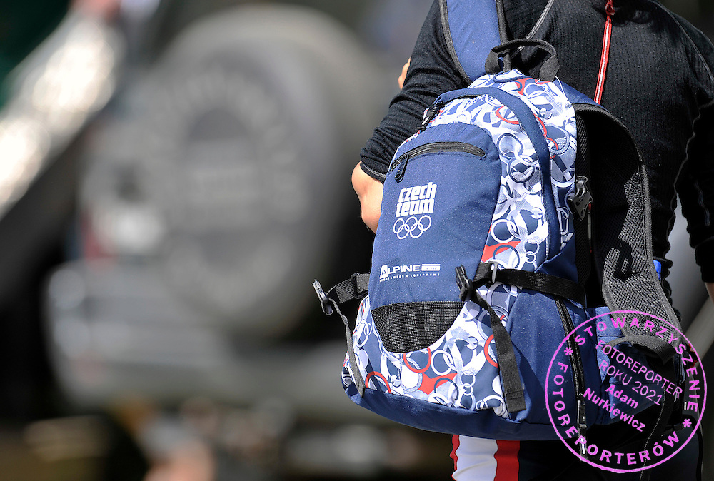 MIRKA KNAPKOVA'S BAG (CZECH REPUBLIC) AFTER HER TREINING SESSION DURING REGATTA WORLD ROWING CHAMPIONSHIPS ON KARAPIRO LAKE IN NEW ZEALAND...NEW ZEALAND , KARAPIRO , NOVEMBER 03, 2010..( PHOTO BY ADAM NURKIEWICZ / MEDIASPORT )..PICTURE ALSO AVAIBLE IN RAW OR TIFF FORMAT ON SPECIAL REQUEST.