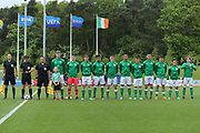 Republic of Ireland national anthem during the UEFA European Under 17 Championship 2018 match between Bosnia and Republic of Ireland at Stadion Bilino Polje, Zenica, Bosnia and Herzegovina on 11 May 2018. Picture by Mick Haynes.