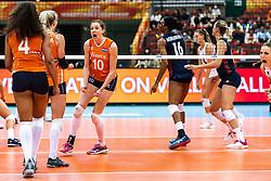 15-10-2018 JPN: World Championship Volleyball Women day 16, Nagoya<br /> Netherlands - USA 3-2 / Lonneke Sloetjes #10 of Netherlands
