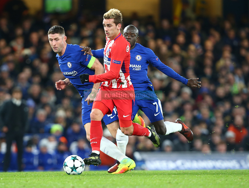 December 5, 2017 - London, England, United Kingdom - Antoine Griezmann of Atletico Madrid..during the Champions  League Group C  match between Chelsea and Atlético Madrid at Stamford Bridge, London, England on 5 Dec   2017. (Credit Image: © Kieran Galvin/NurPhoto via ZUMA Press)