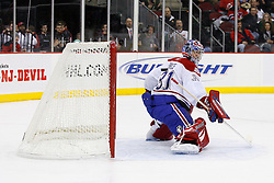 Jan 21, 2008; Newark, NJ, USA; Montreal Canadiens goalie Carey Price (31) makes a blocker save during the second period at the Prudential Center.