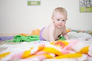 Baby Girl, crawling towards camera.