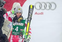 28.12.2014, Hohe Mut, Kühtai, AUT, FIS Ski Weltcup, Kühtai, Riesenslalom, Damen, 2. Durchgang, im Bild Anna Fenninger (AUT) // Anna Fenninger of Austria reacts after 2nd run of Ladies Giant Slalom of the Kuehtai FIS <br /> Ski Alpine World Cup at the Hohe Mut Course in Kuehtai, Austria on 2014/12/28. EXPA Pictures © 2014, PhotoCredit: EXPA/ JFK
