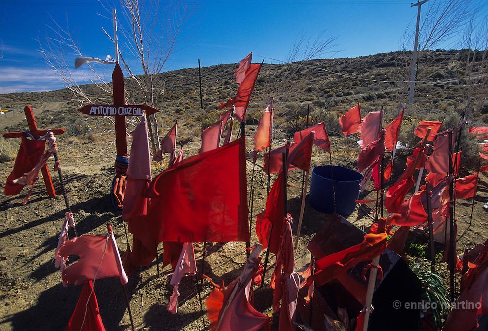 Ruta Nacional 3, road shrine of popular ?saint? Antonio Cruz Gil.