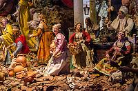 Detalhe do Presépio Napolitano, século XVIII, Itália. Acervo do Museu de Arte Sacra de São Paulo, São Paulo - SP, 02/2013.