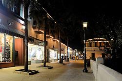 St. Augustine, Florida, Nights of Lights, 2017.  St. George Street, Looking North.
