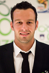 Samir Handanovic at official presentation of Slovenian National Football team for World Cup 2010 South Africa, on May 21, 2010 in Congress Center Brdo at Kranj, Slovenia. (Photo by Vid Ponikvar / Sportida)