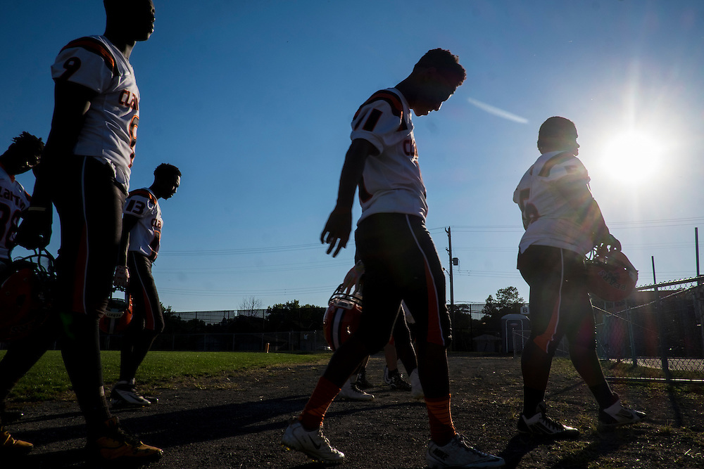 Football practice at Clairton High School Clairton high school football practice. Against the odds, over twenty percent of the city's families exist at the poverty level — nearly three times the state rate and more than double the national average, and the city has no grocery store, the Bears' 66-game winning streak that ended in 2012 is the longest ever in Pennsylvania high school history.