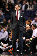 Dec 23, 2013; Phoenix, AZ, USA; Phoenix Suns head coach Jeff Hornacek watches on against the Los Angeles Lakers at US Airways Center. The Suns won 117-90. Mandatory Credit: Jennifer Stewart-USA TODAY Sports